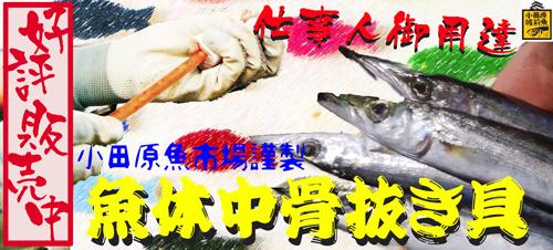 魚体中骨抜き器販売中
